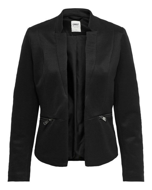 Mandarin Collar Long Sleeve Blazer
