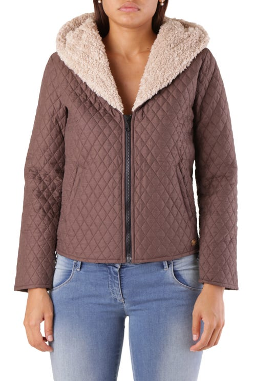 Hooded Quilted Long Sleeve Jacket