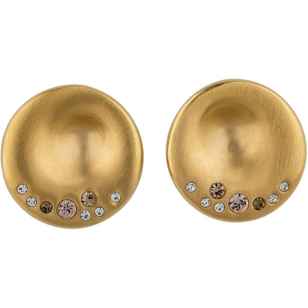 Illusion Plate Stoned Earring