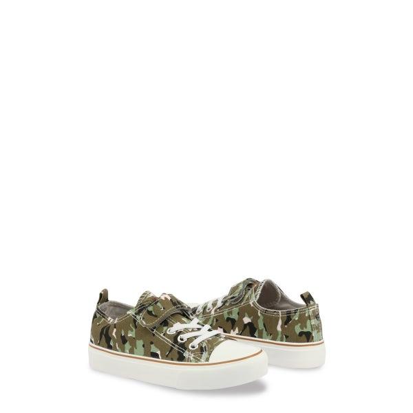 Camo Print Velcro Strap Kids Sneakers