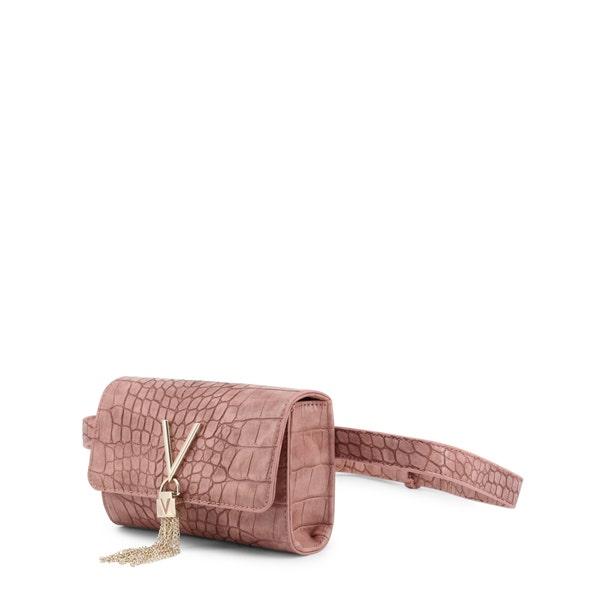 Pink Croco Pattern Belt Bag