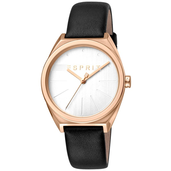 Leather Strap Silver Dial Analog Watch