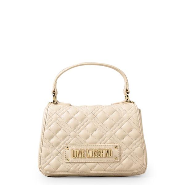 Cream Magnetic Quilted Handbag