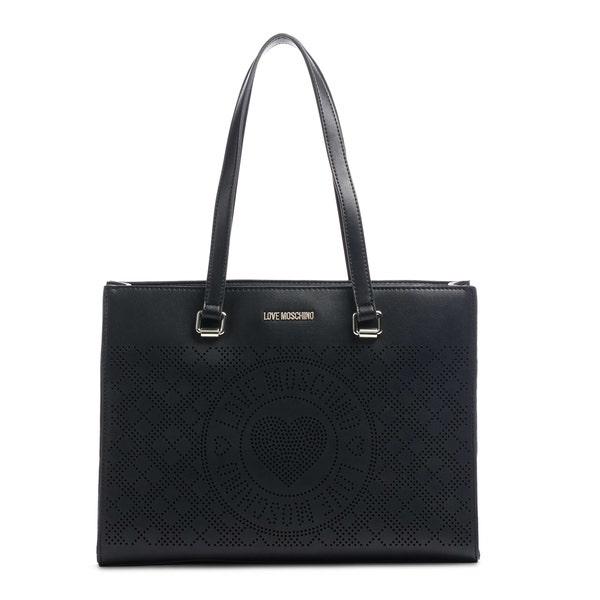 Black Two Handle Printed Shoulder Bag