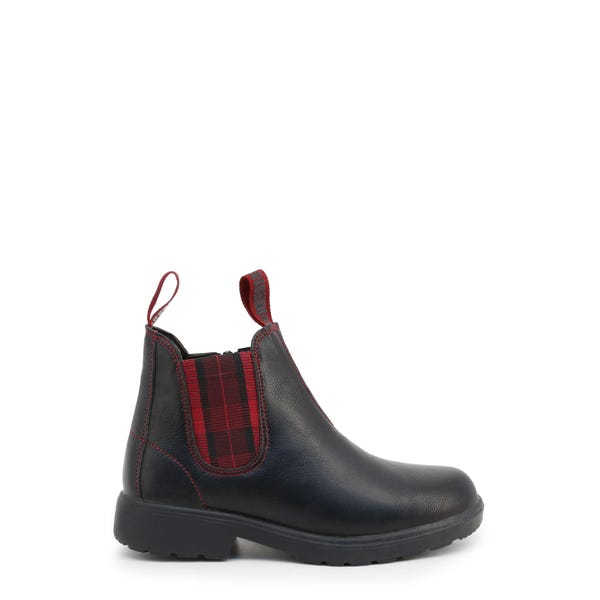 Elastic Leather Kids Ankle Boots