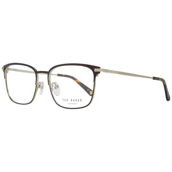 Steel Pattern Temple Square Lens Eyeglass