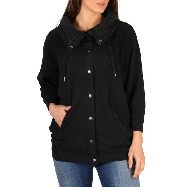 Collar Neck Button Long Sleeve Jacket