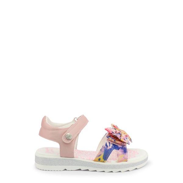 Pink Velcro Floral Strap Kids Sandals