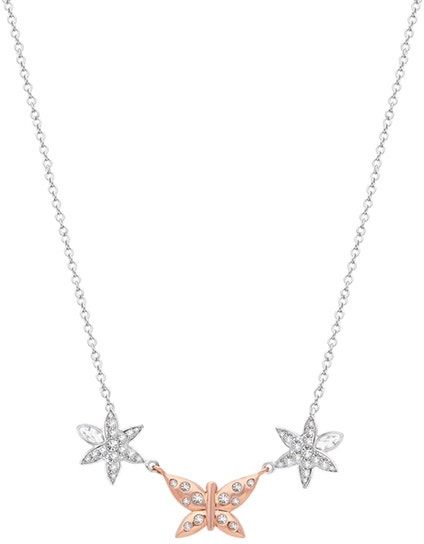 Natura Stainless Steel Tri Pendants Necklace