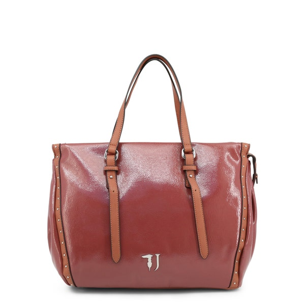 Brown Portulaca 2 Handles Shoulder Bag