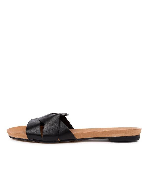 Black Just Flat Sandals