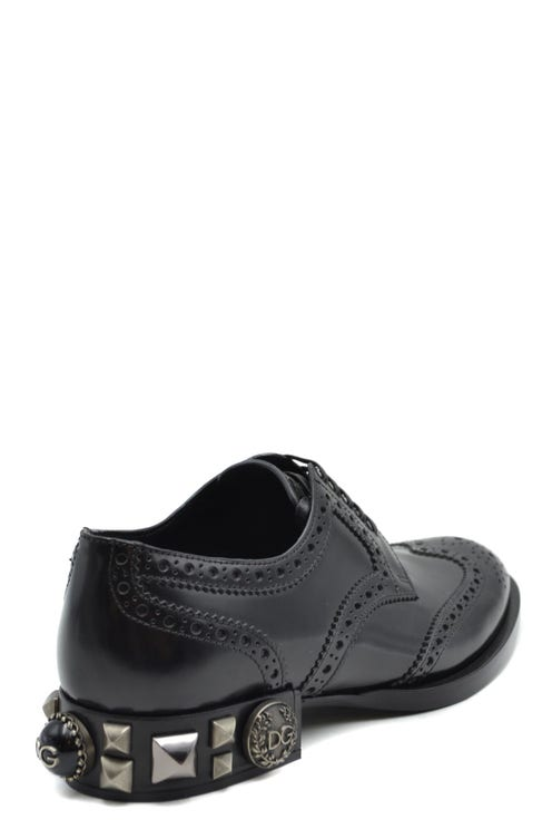 Round Toe Leather Lace Up Shoes