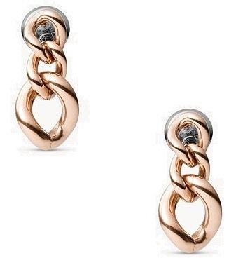 Rose Gold Tone Chain Earring