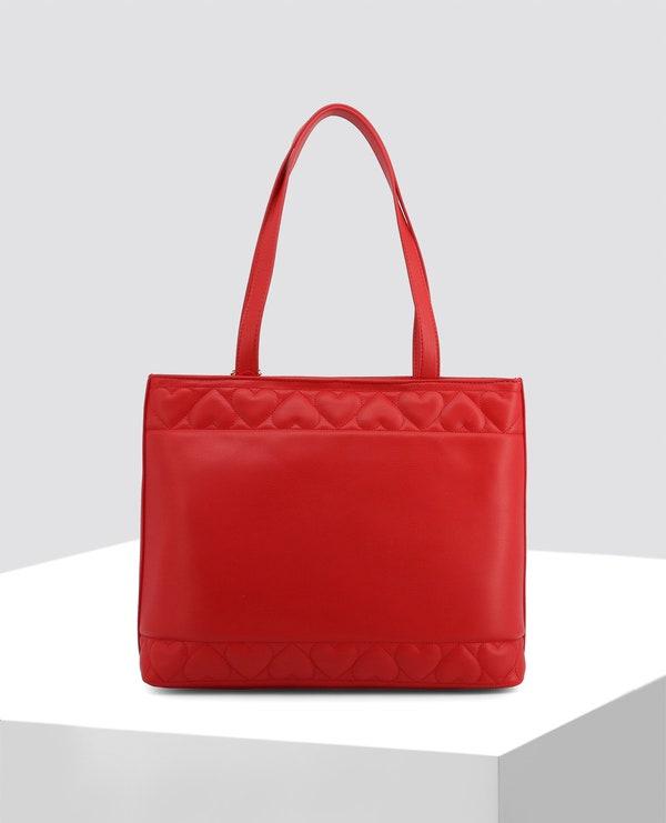 Red Dual Shoulder Strap Bag