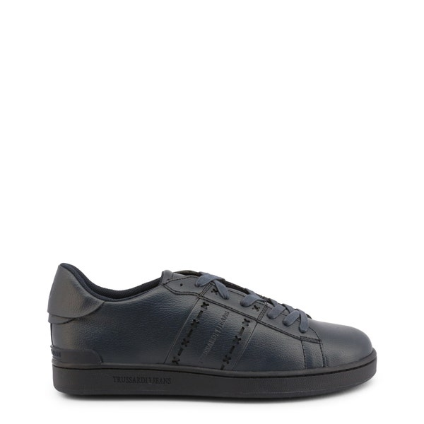 Leather Low Top Round Toe Sneakers
