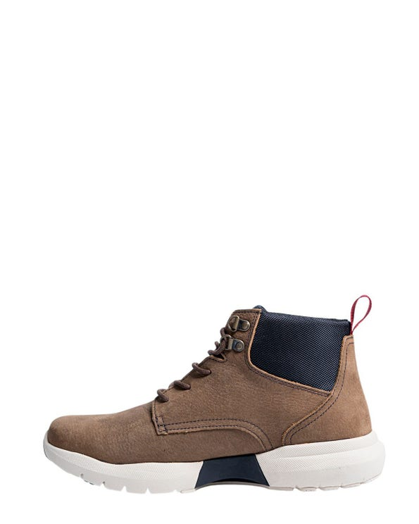 Brown Leather Lace Up Ankle Boots