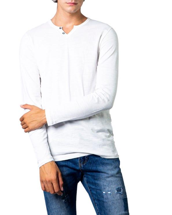 White Long Sleeve Plain T-shirt