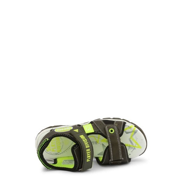 Military Leather Velcro Strap Kids Sandals