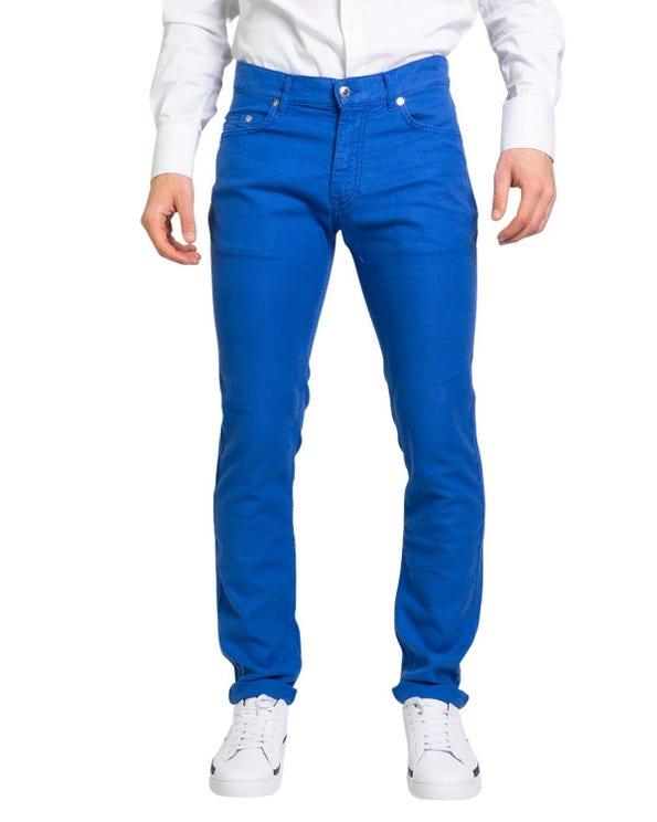 Plain Button Zipper Slim Fit Trouser