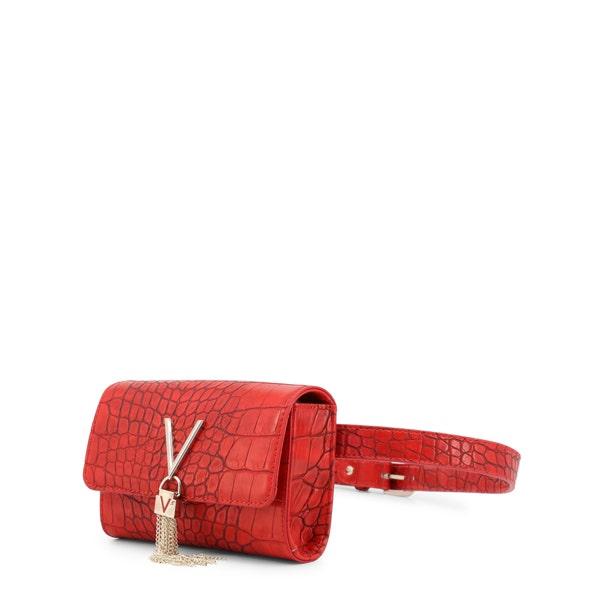 Red Croco Pattern Belt Bag