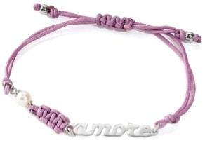 Levander Strap Silver Tone Pendant Bracelet