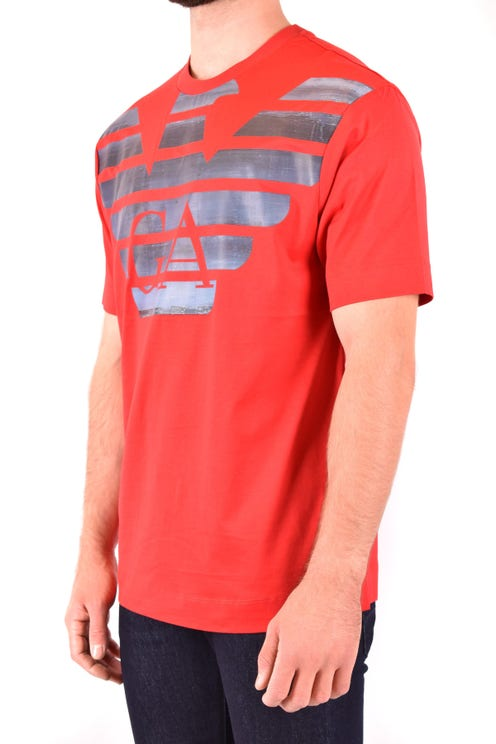 Red Logo Print Front T Shirt