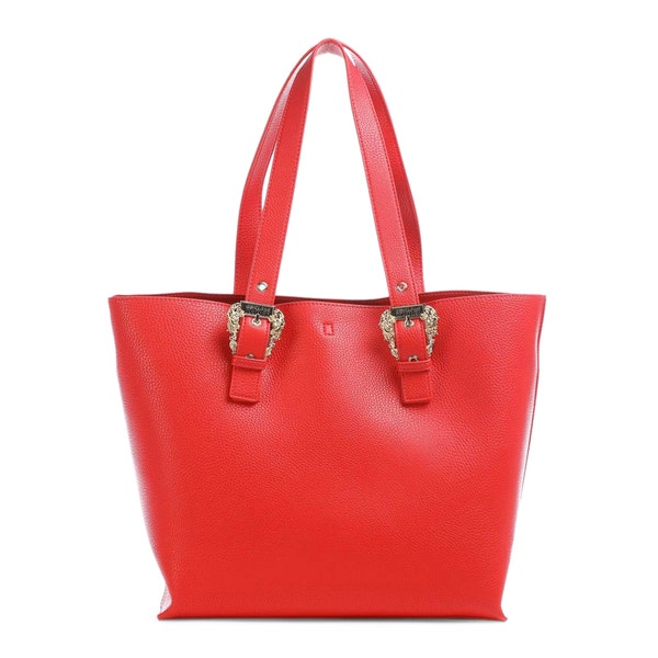Leather Embillesh Buckle Shopping Bag
