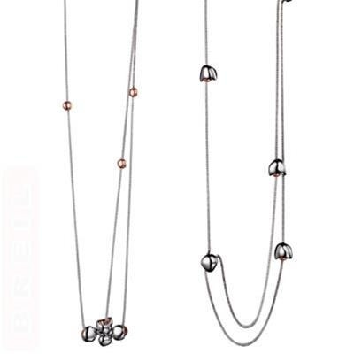 Studs Duo Silver Necklace