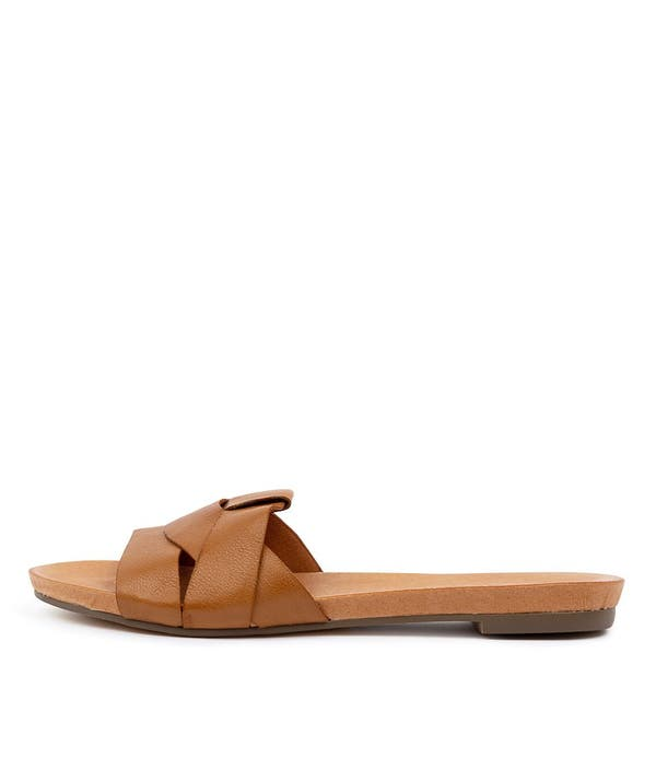 Brown Just Flat Sandals