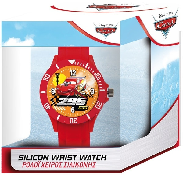 Red Pixar Cars Silicone Strap Watch