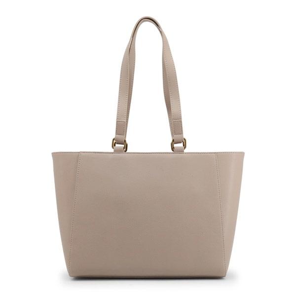 Grey Dual Top Chain Shoulder Bag