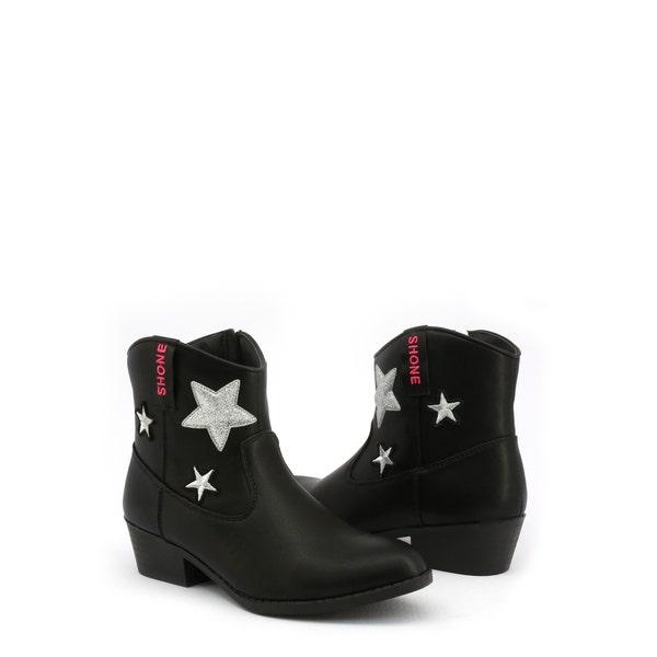 Nero Side Zipper Kids Ankle Boots