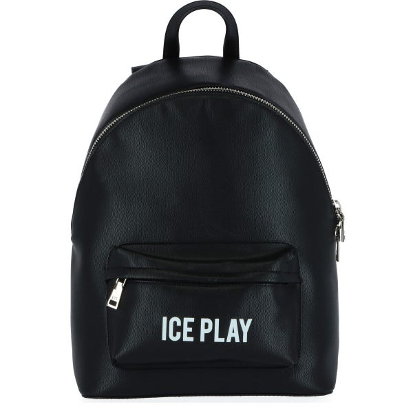 Round Zipper Leather Backpack