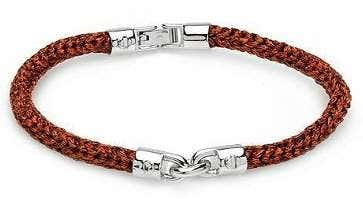 925 Silver Touch Brown Clasp Bracelet