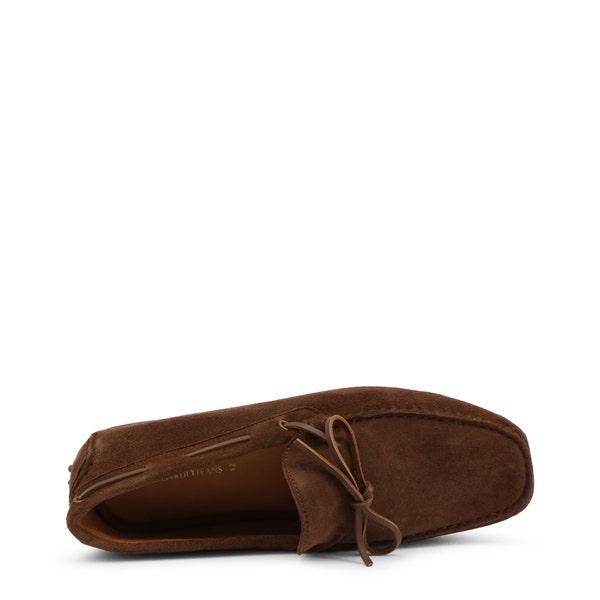 Brown Suede Loafer Slip On Moccasin