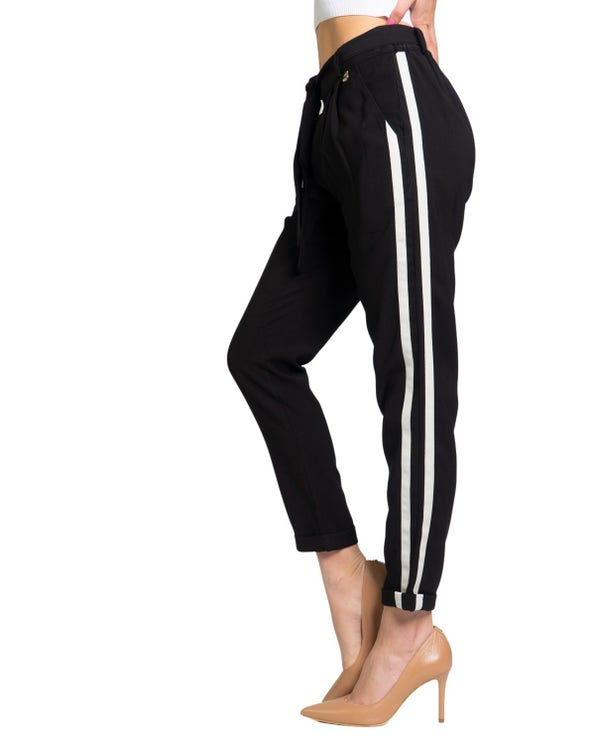 Elastic Wiast Side Stripes Trousers