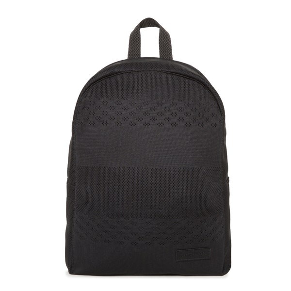 Black Padded Zipper Backpack