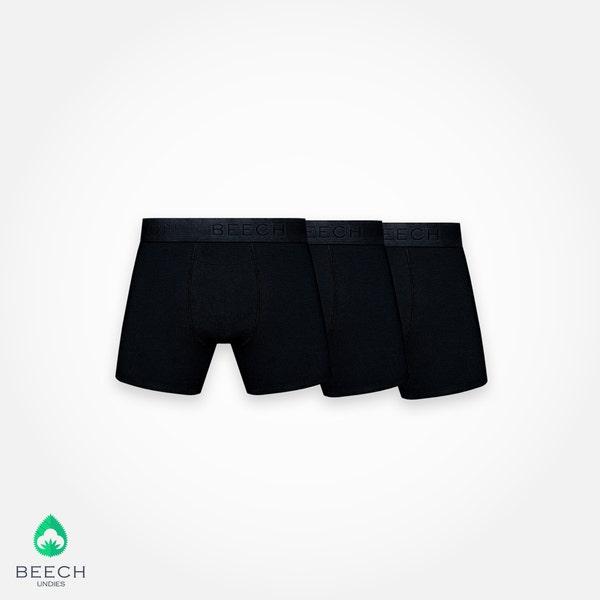Black 3 Pack MicroModal Boxer Briefs