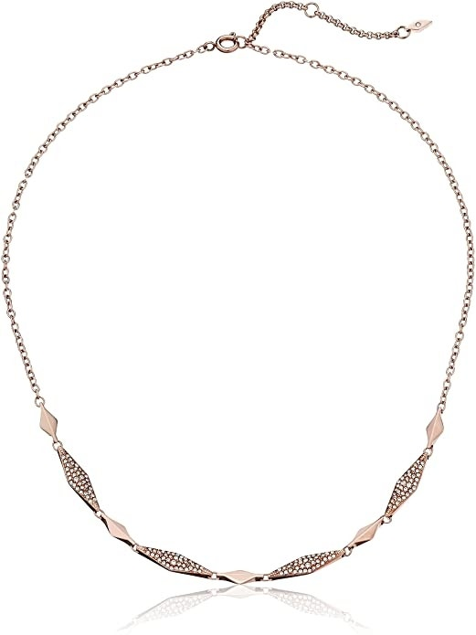 Vintage Casual Rose Gold Plated Necklace