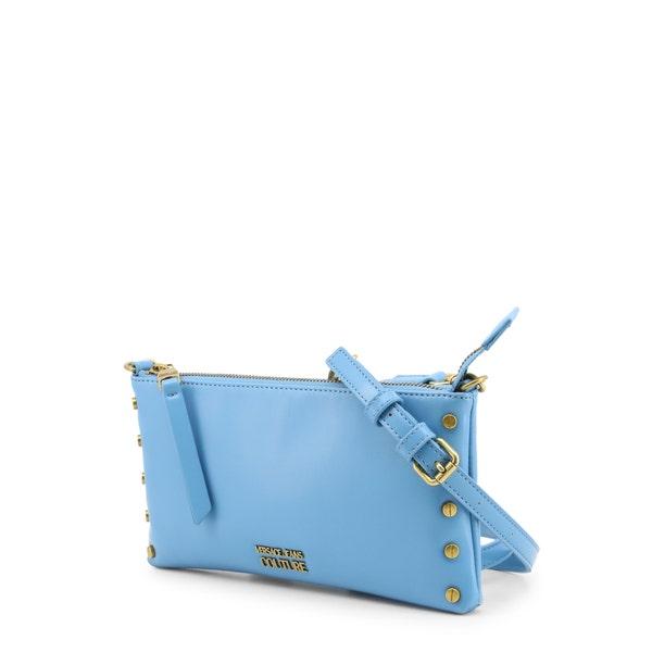 Blue Shoulder Strap Zipper Clutch Bag