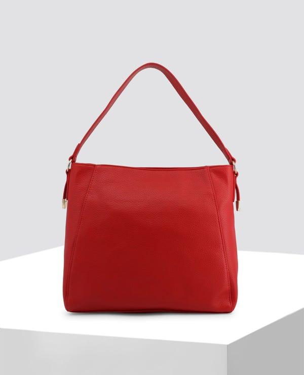 Red Embroidered Shoulder Bag