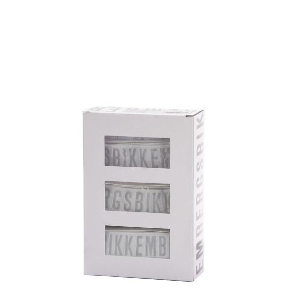 White 3 Pack Elastic Logo Brief