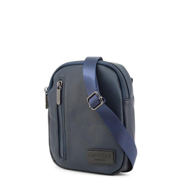 Blue Leather William Crossbody Bag