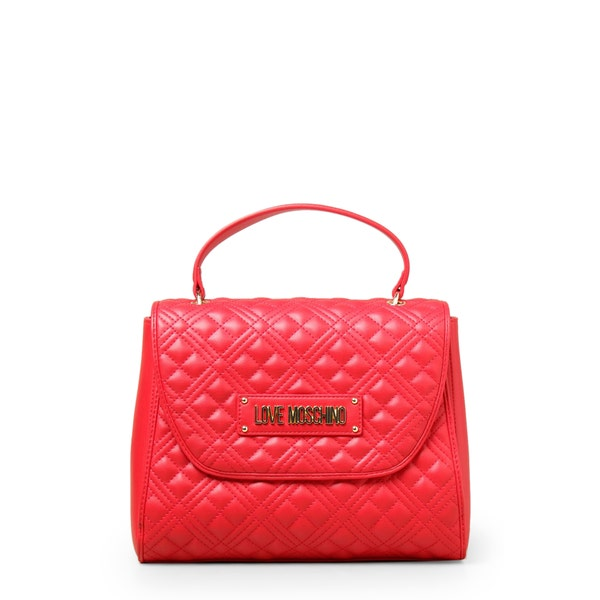 Red Quilted Magnetic Handbag