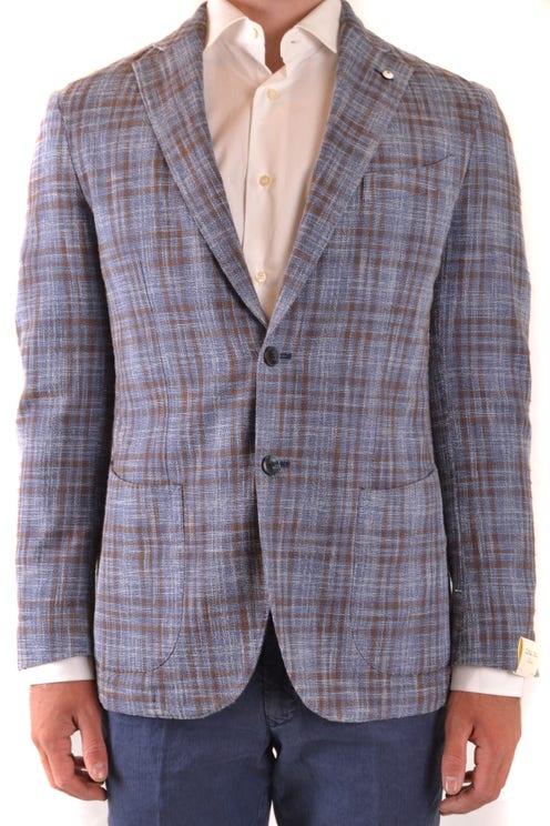 Long Sleeve Checkered Pocket Blazer