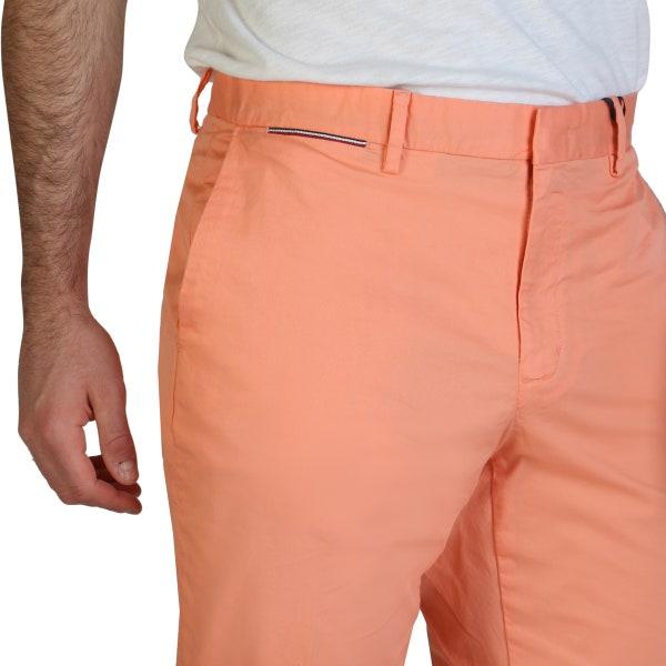 Orange Button Zipper Pocket Trouser