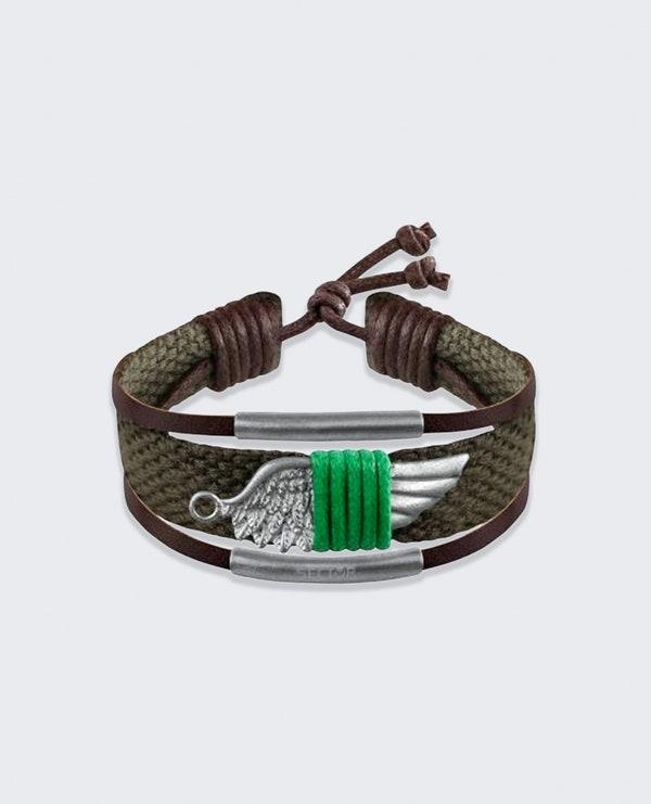 Green Rude Wing Bracelet