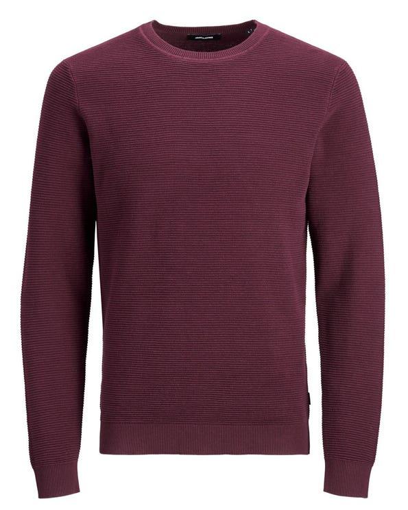 Round Neck Long Sleeve Plain Knitwear