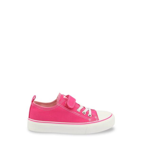 Fucsia Velcro Strap Kids Sneakers