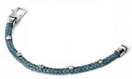 925 Silver Touch Green Clasp Bracelet